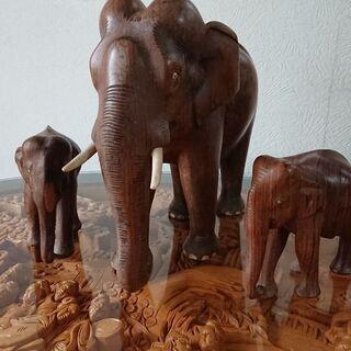 象  木製置物