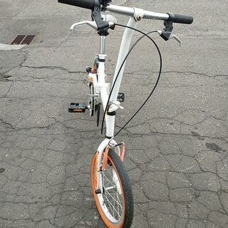 格安 札幌市 折り畳み自転車 16インチ 5480円 中古自転車