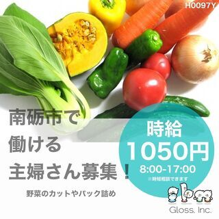 【南砺市】時短も相談可!時給1050円・軽作業・野菜カット…