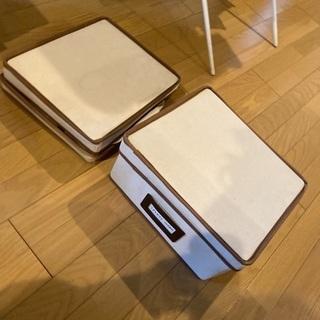 折り畳み式 整理ボックス 布製 3つ【5/16まで】