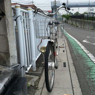 【 中古自転車】24インチ  (シルバーメタリック) 内装3速 ...