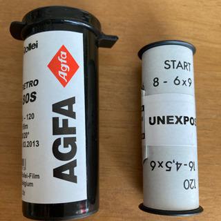 ブローニー120白黒フィルム(期限切れ)