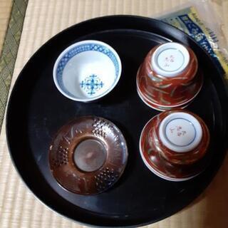 九谷焼の茶器と茶托五客セット