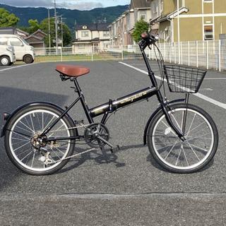 20インチ折りたたみ自転車 6段変速 ブラック 新品未使用