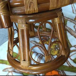 籐 ラタン 椅子 回転椅子 座椅子