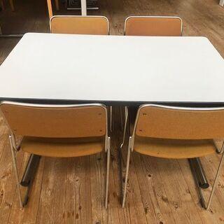 受付対応テーブルセット(椅子ゴールド)