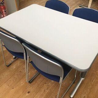 来客応対テーブルセット(椅子青)