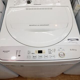 SHARP 2019年製 5、5kg 全自動洗濯機 ES-…
