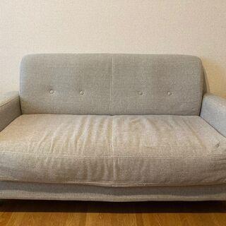 【無料】二人掛けソファー シンプル お譲りします 東京都 杉並区