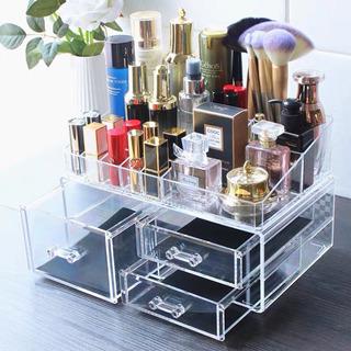 化粧品収納ボックス メイクボックス三段ケース