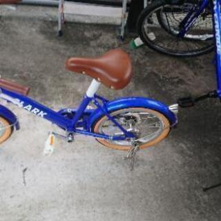 中古 子供の自転車青色16
