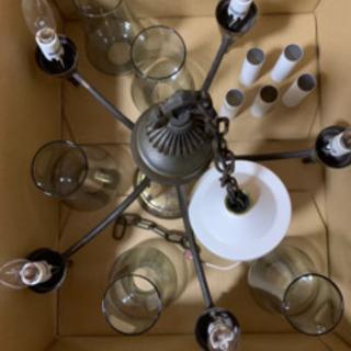 真鍮製アンティークランプ シャンデリア