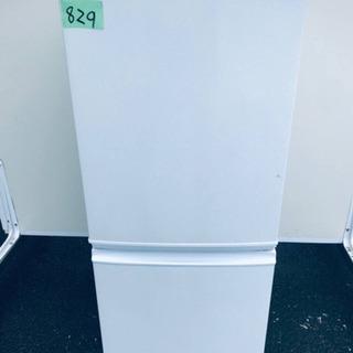 829番シャープ✨ノンフロン冷凍冷蔵庫✨SJ-14Y-W‼️