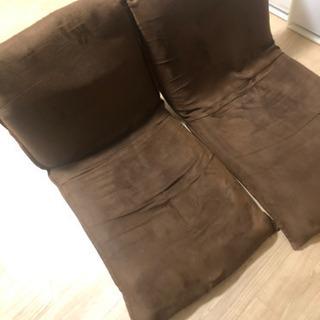【無料】座椅子ブラウン2脚