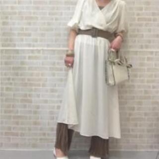 タグ付き 新品 2way カシュクールワンピース S size  GU - 服/ファッション
