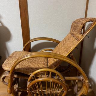 【ネット決済】籐のリクライニングチェア 椅子 アジアン家具