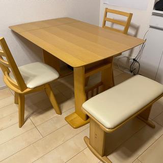 折りたたみ可能 1台2役ダイニングテーブル