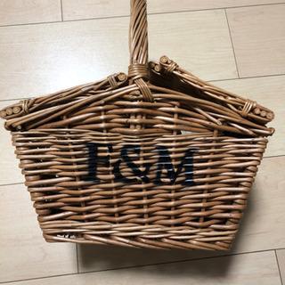 ロンドンで購入 フォートナム&メイソン カゴ ナチュラル バスケ...