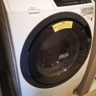 【ネット決済・配送可】日立ドラム式洗濯乾燥機(2018年3月購入)