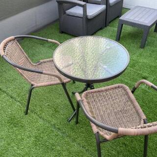 ガーデンデスク、ガーデンチェアセット