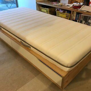 【ネット決済】IKEAの引き出し付きシングルベッド MANDAL