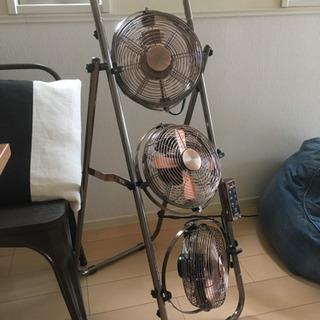 扇風機 3連