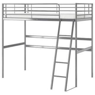 IKEAロフトパイプベッド ホワイト