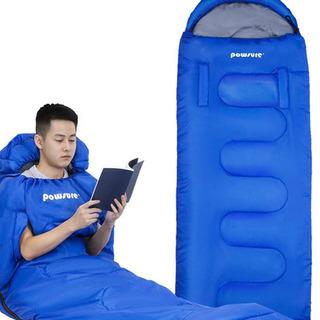 寝袋 手が出る シュラフ 封筒型 軽量 コンパクト 防水 連結 ...