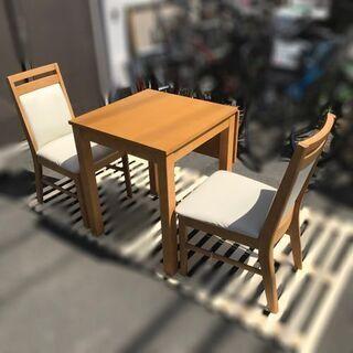 ダイニングテーブルとチェア(2脚)セット【自社配送は札幌市内限定...