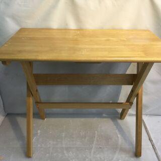 折りたたみ机 木製 テーブル ナチュラル H67 W80 D48...