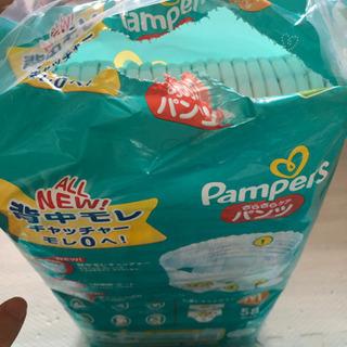 パンパース Mサイズ テープ3袋 開封パンツ1袋