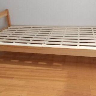 木製シングルベッド無料(2019年2月購入)