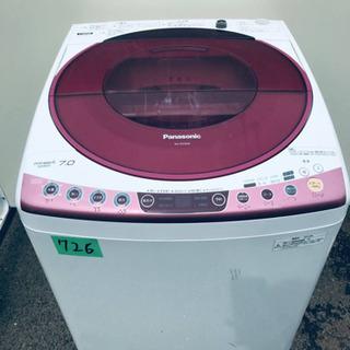 ①‼️7.0kg‼️726番 Panasonic✨全自動電気洗濯...