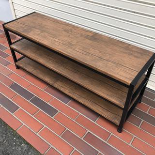 美品■テレビボード テレビラック 木目調 3段 高さ調節可