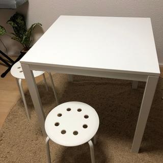 ダイニングテーブル 白
