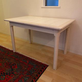 タイル張りダイニングテーブル【傷・汚れあり】