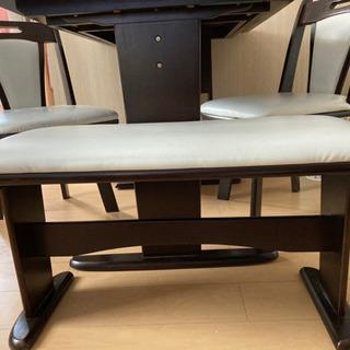 【ネット決済】折り畳みダイニングテーブル 椅子3脚付