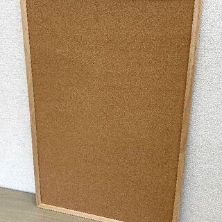 JM11122)シンプルな木目調コルクボード 1個 中古品【取り...
