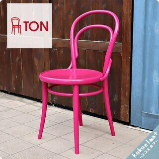 TON(トン)のNo.14 ベントウッドチェア/ピンクです。レス...