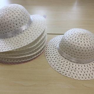麦わら帽子作品ベース10枚(ホワイト)