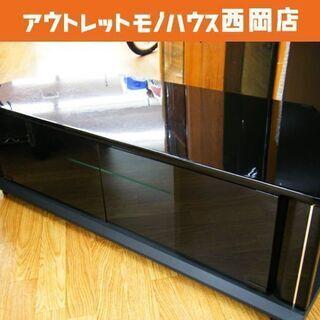テレビボード 幅100㎝ ブラック キャスター付き 収納付き T...