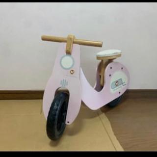木製 足こぎ スクーター バイク