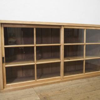 タ荷U706◆①H88cm×W173cm◆大きな古い木製ガラスケ...