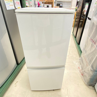 '16 SHARP 2ドア冷蔵庫 ホワイト 137L SJ…