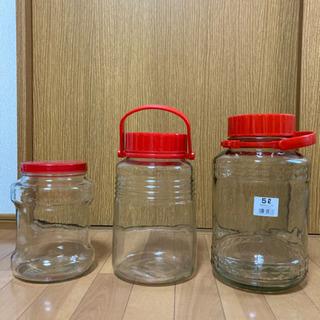 梅酒 貯蔵瓶 3種類(5ℓ 、4ℓ、3ℓ?)