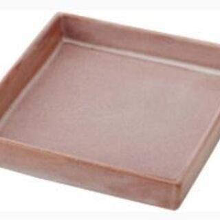 ③和(なごみ) 赤楽四方皿 14.5cm×14.5cm A…