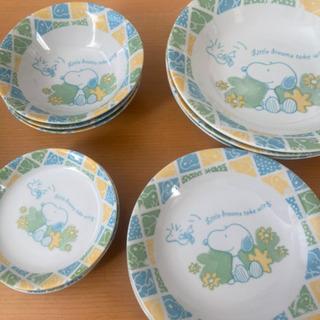 【取引可能】スヌーピー皿とカップセット