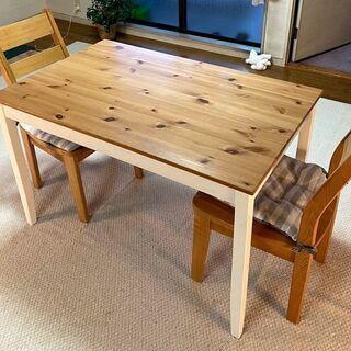 ★ IKEA イケア ダイニングテーブル セット(イス 2脚 付...