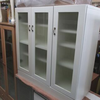 ミドル 食器棚 ホワイト 90×38×90cm キッチン 収納 ...