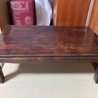 昭和レトロ 木製ローテーブル